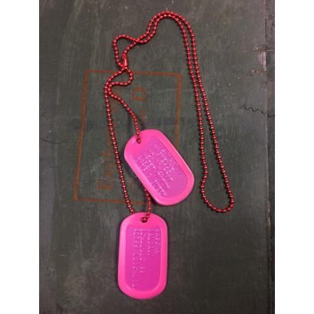 Kariškų žetonų komplektas, PINK (rožinės spalvos)